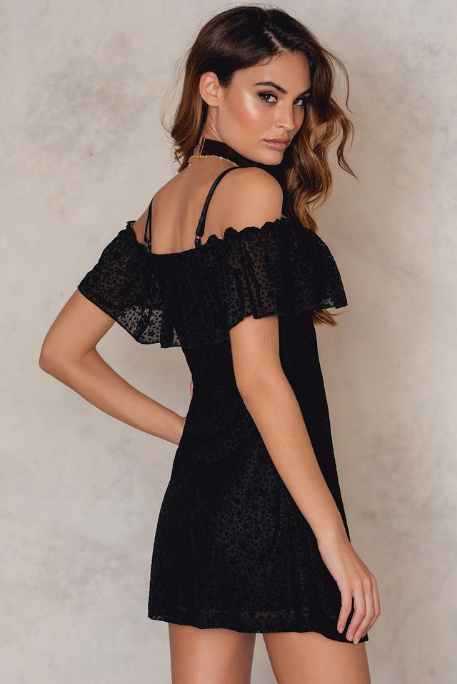 Erika Dress Flock Star Black