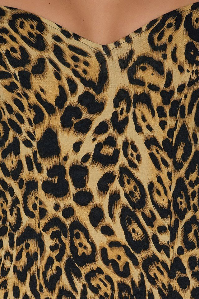 Essense Bodycon Dress Leopard