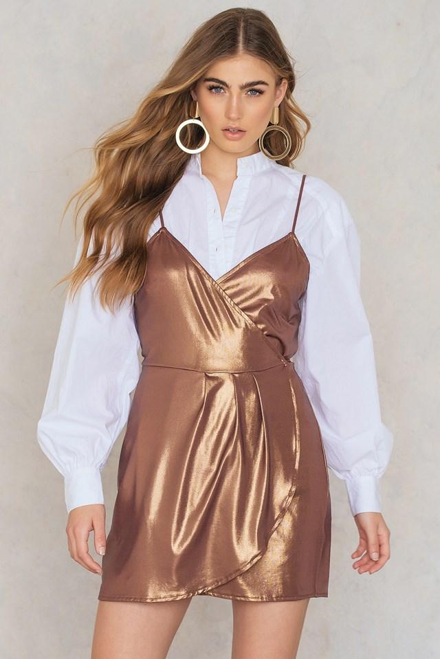 Florence Dress Bronze Shimmer