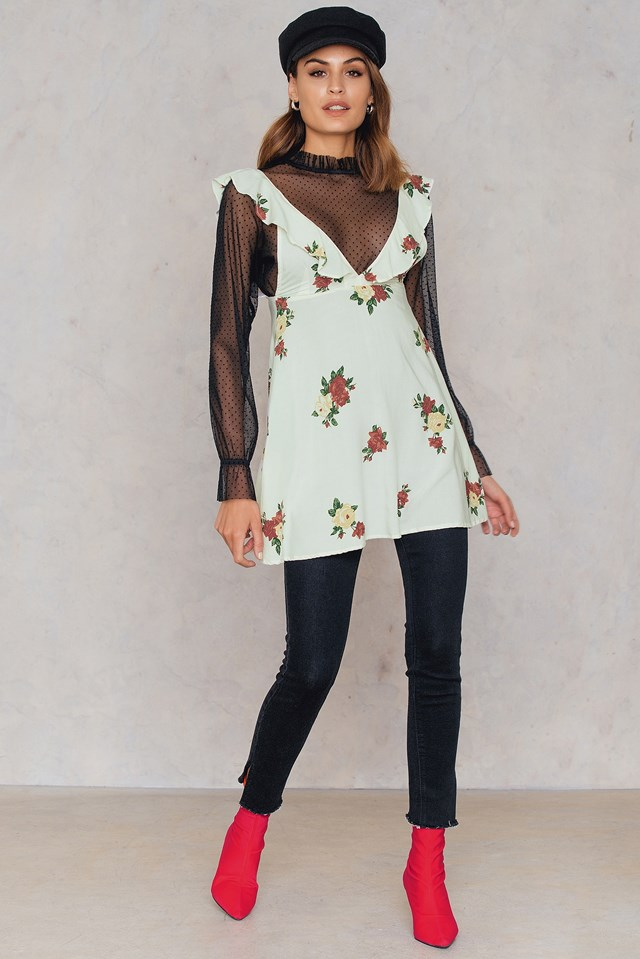 Kasmara Dress Floral Rose Cream
