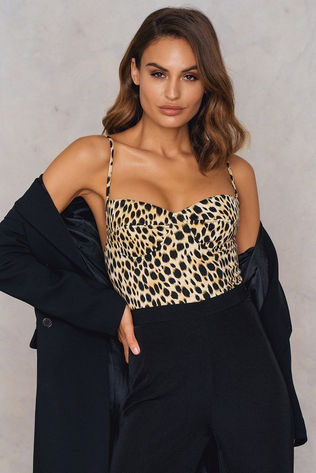 Lanti Printed Bodice Cheetah