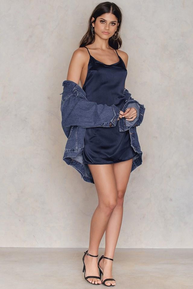 Lucille Slip Dress Navy
