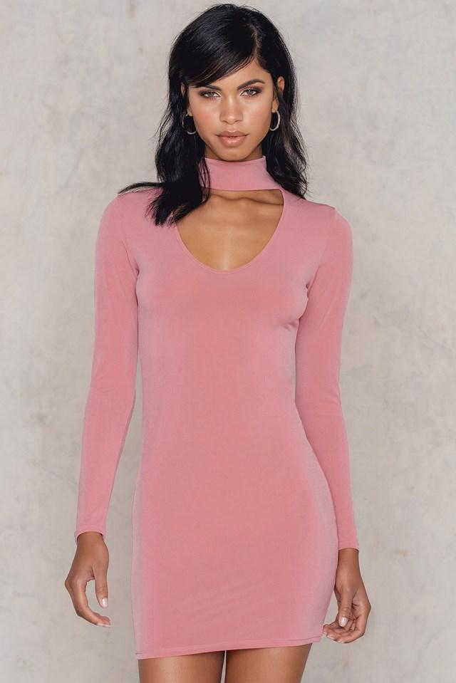 Nymphea Bodycon Dress Blush