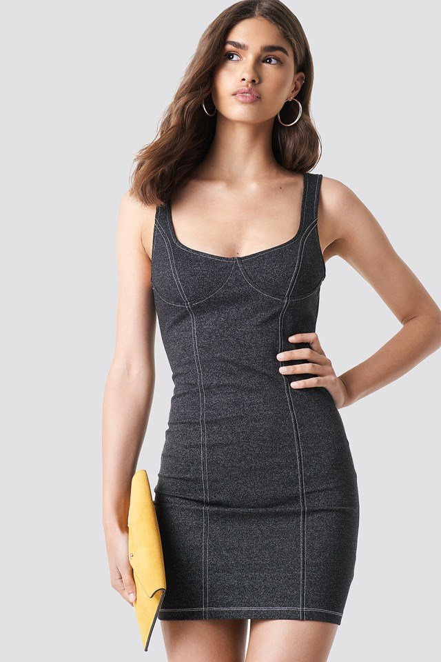 Spara Dress Denim Black