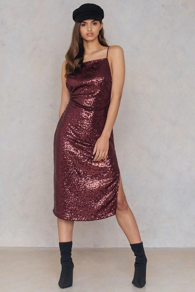 Shura Dress Burgundy