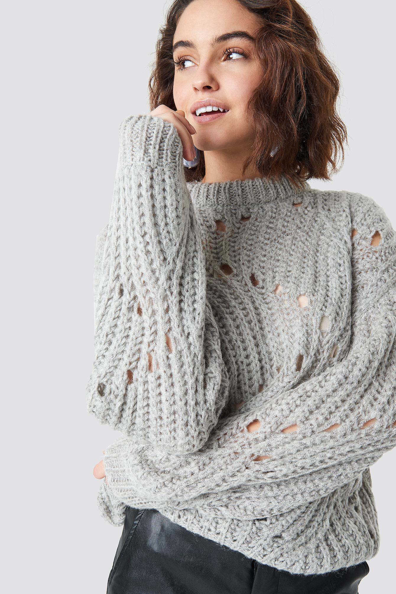 MOVES Fiolina Sweater - Grey