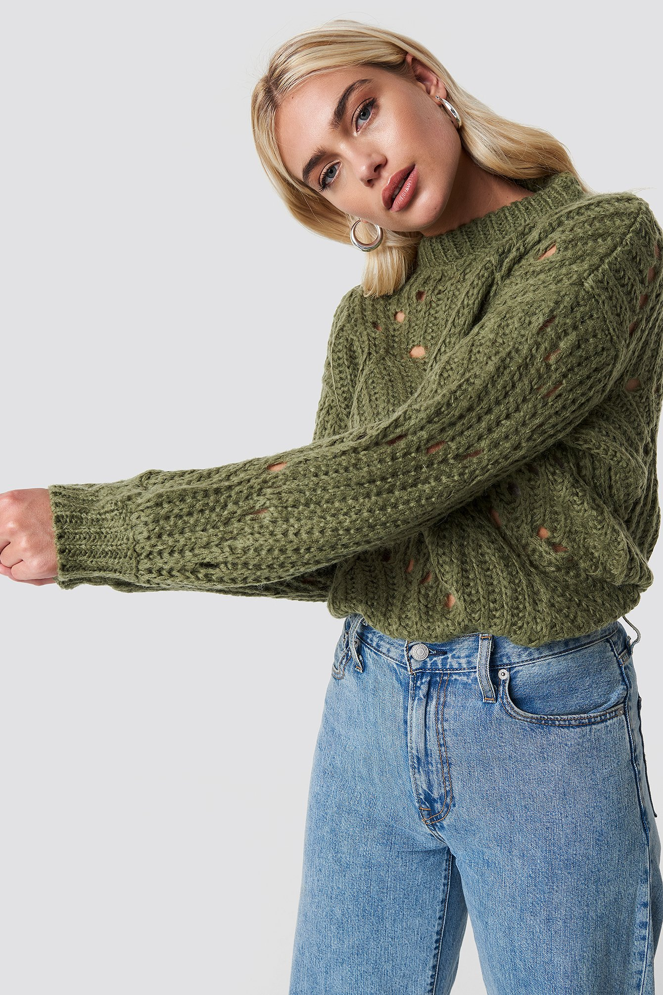 moves -  Fiolina Sweater - Green