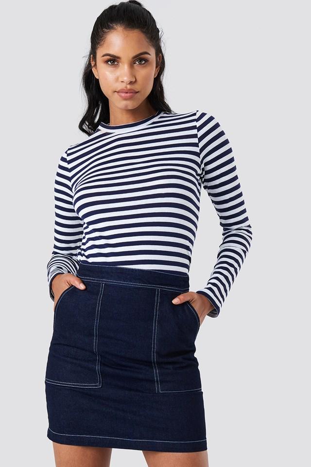 Magan Skirt Raw Blue