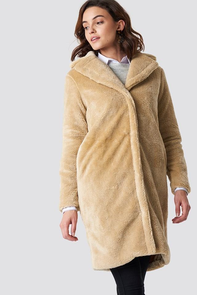 Ranee Coat Leather Brown