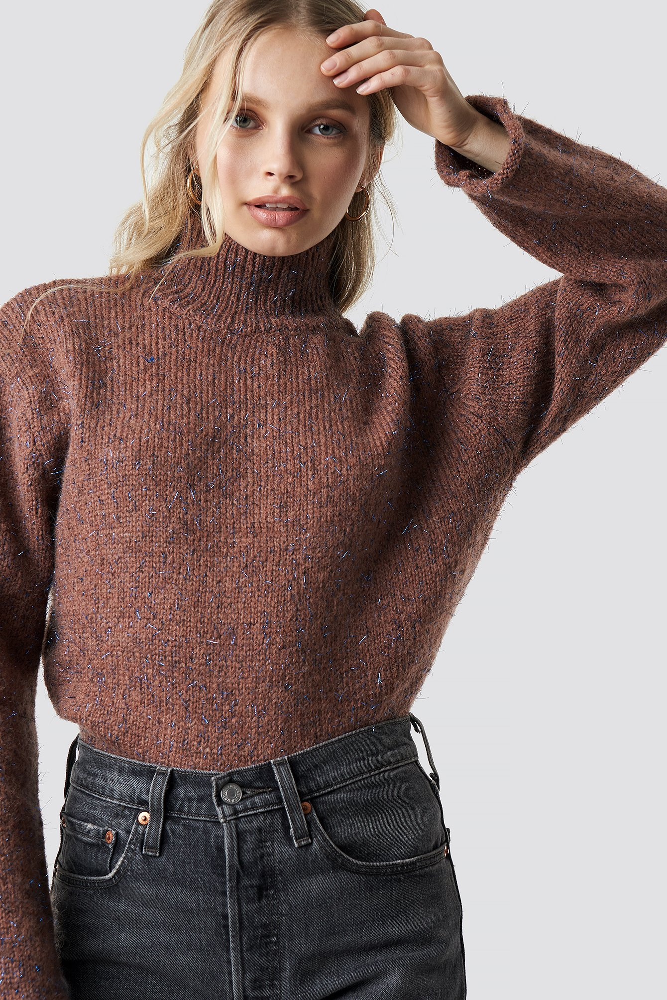 MOVES Yna Jumper - Brown in Pink