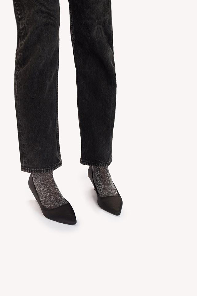 Ankle Pi Sock Silver
