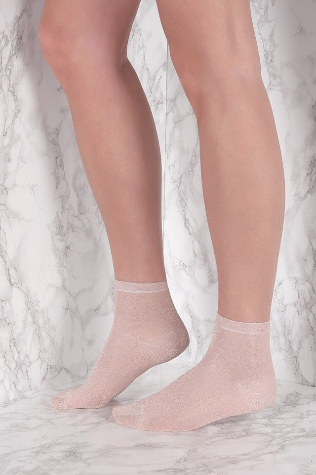 Ankle Pi Sock Dusty Rose