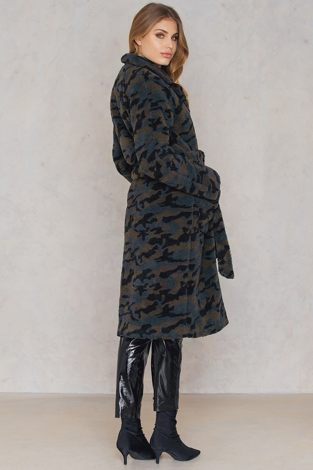 Canny Camo Coat Dark Grey/Camo Print
