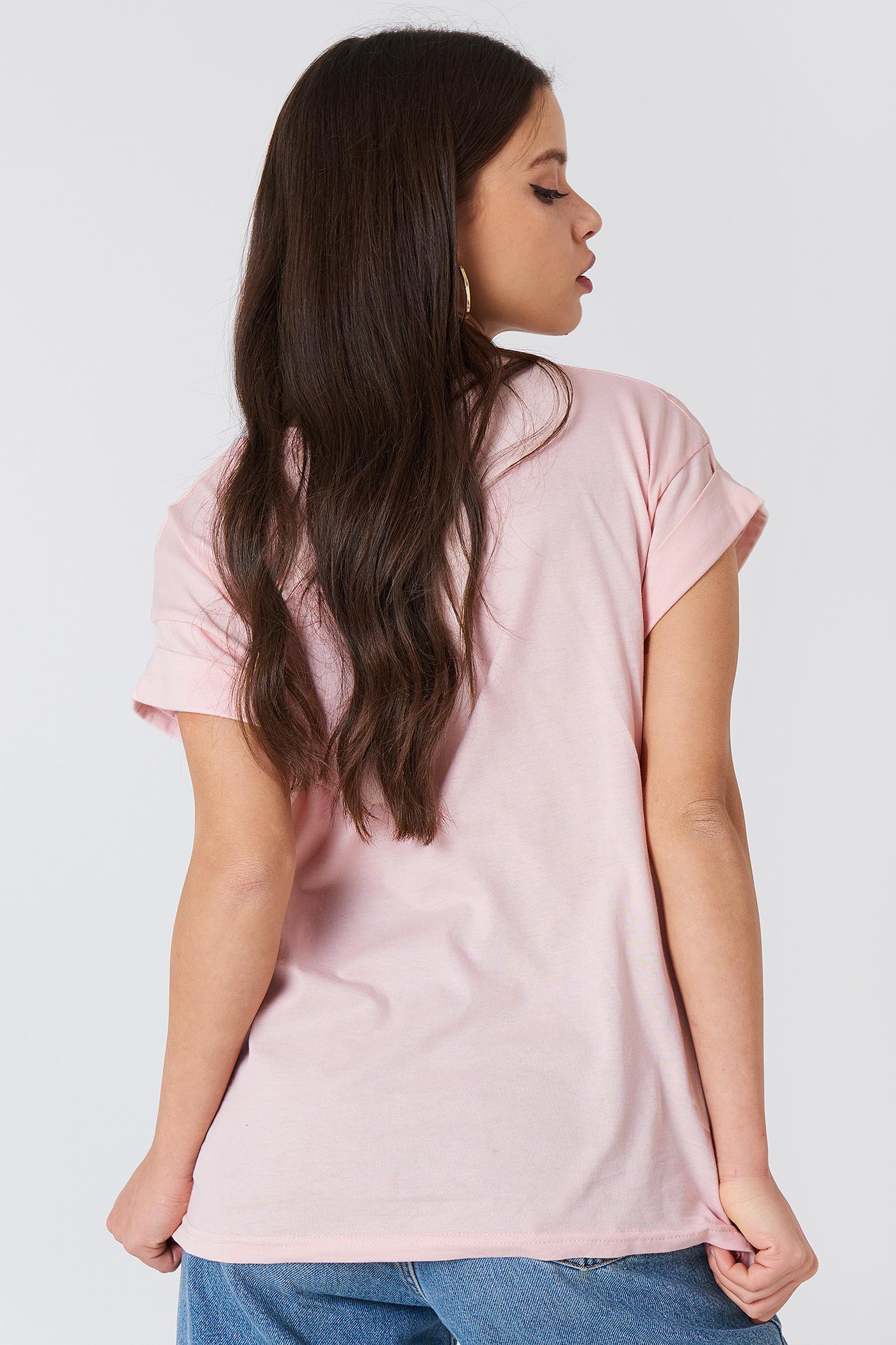 T-shirt z nadrukiem z logo Alva NA-KD.COM