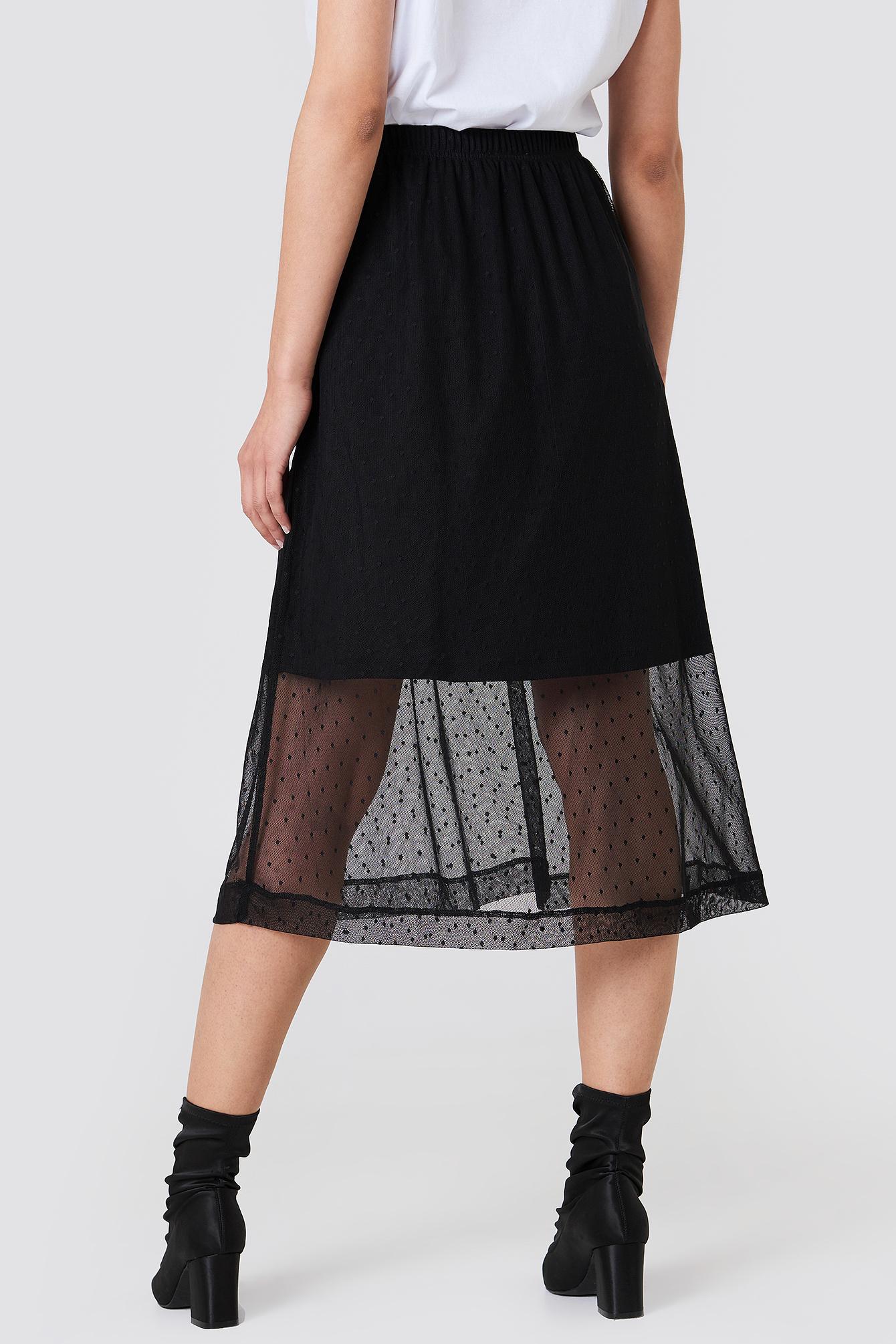 Caradee Dot Skirt NA-KD.COM