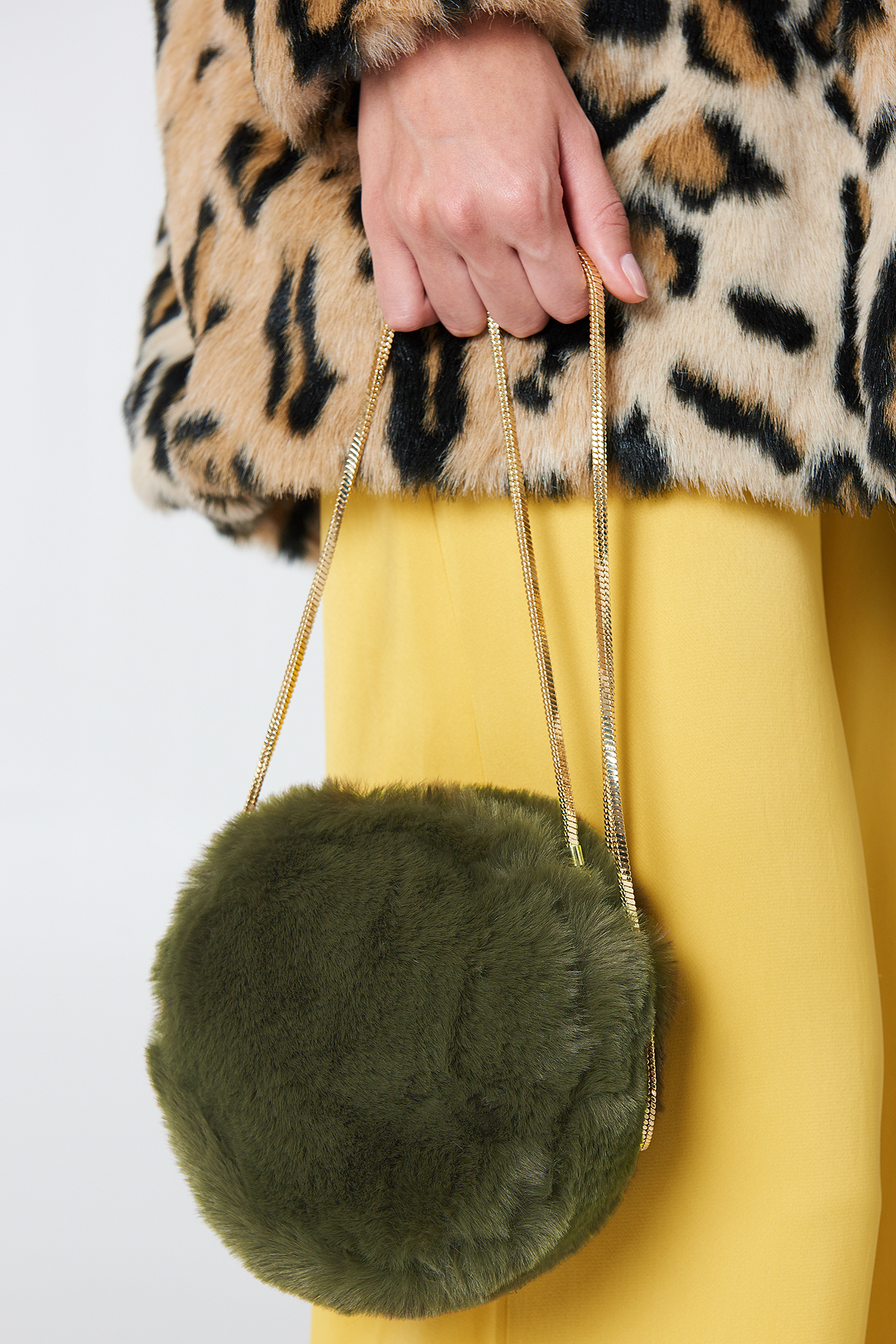 Daisy Fake Fur Bag NA-KD.COM