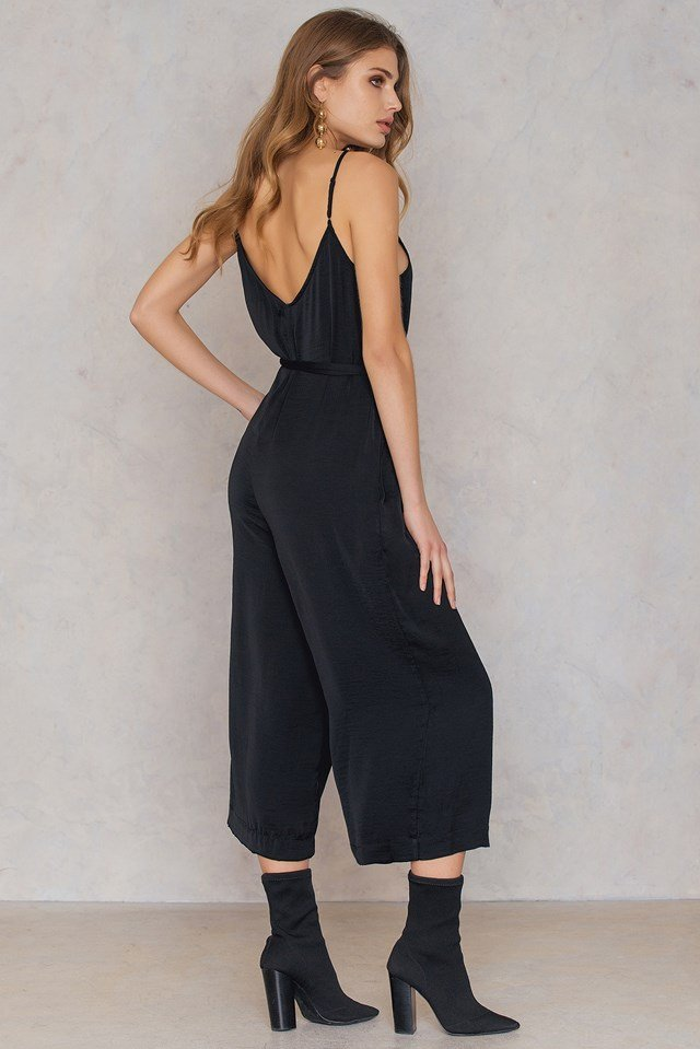 Shane Jumpsuit Black Solid