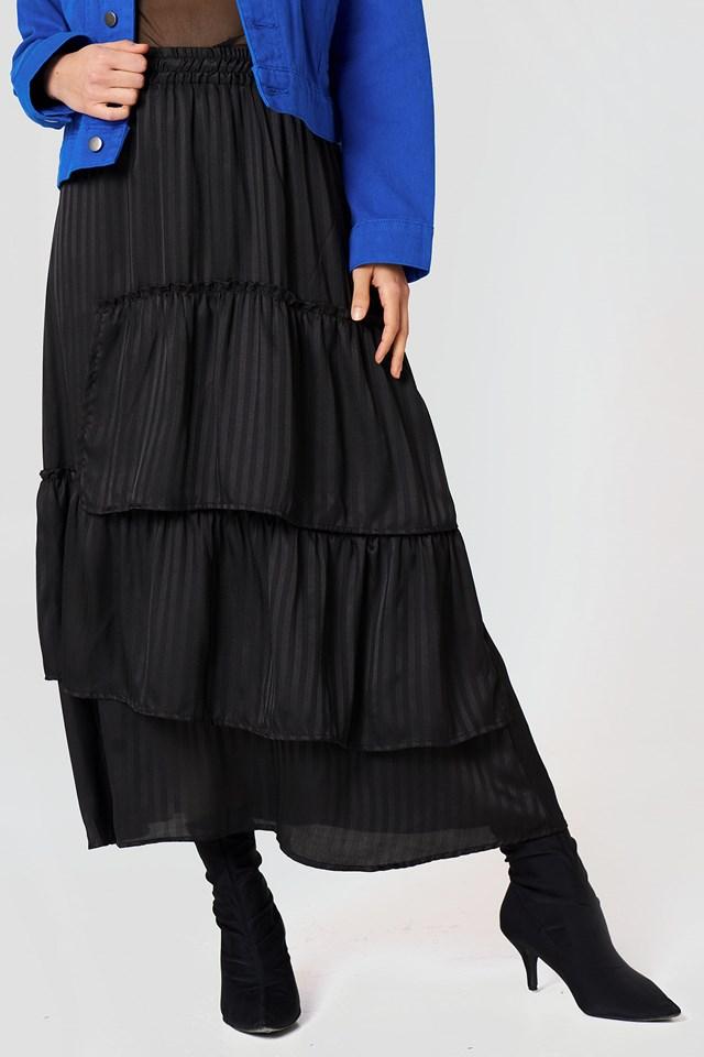 Freddie Jaquar Skirt Black Stripe