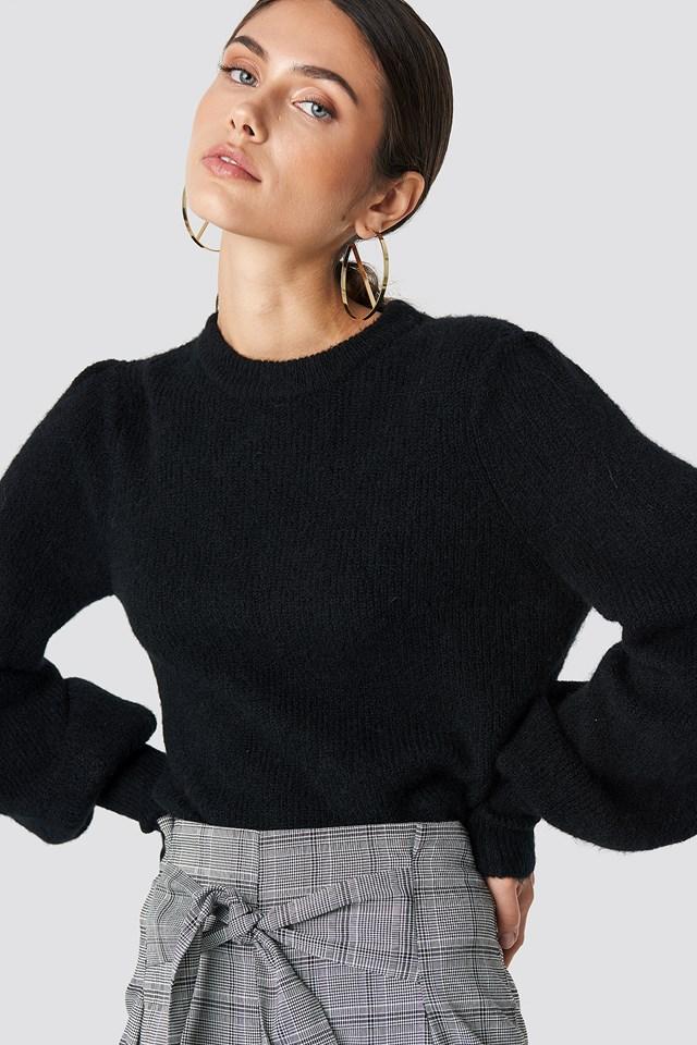 Alpaca Wool Blend Balloon Sleeve Sweater NA-KD Trend