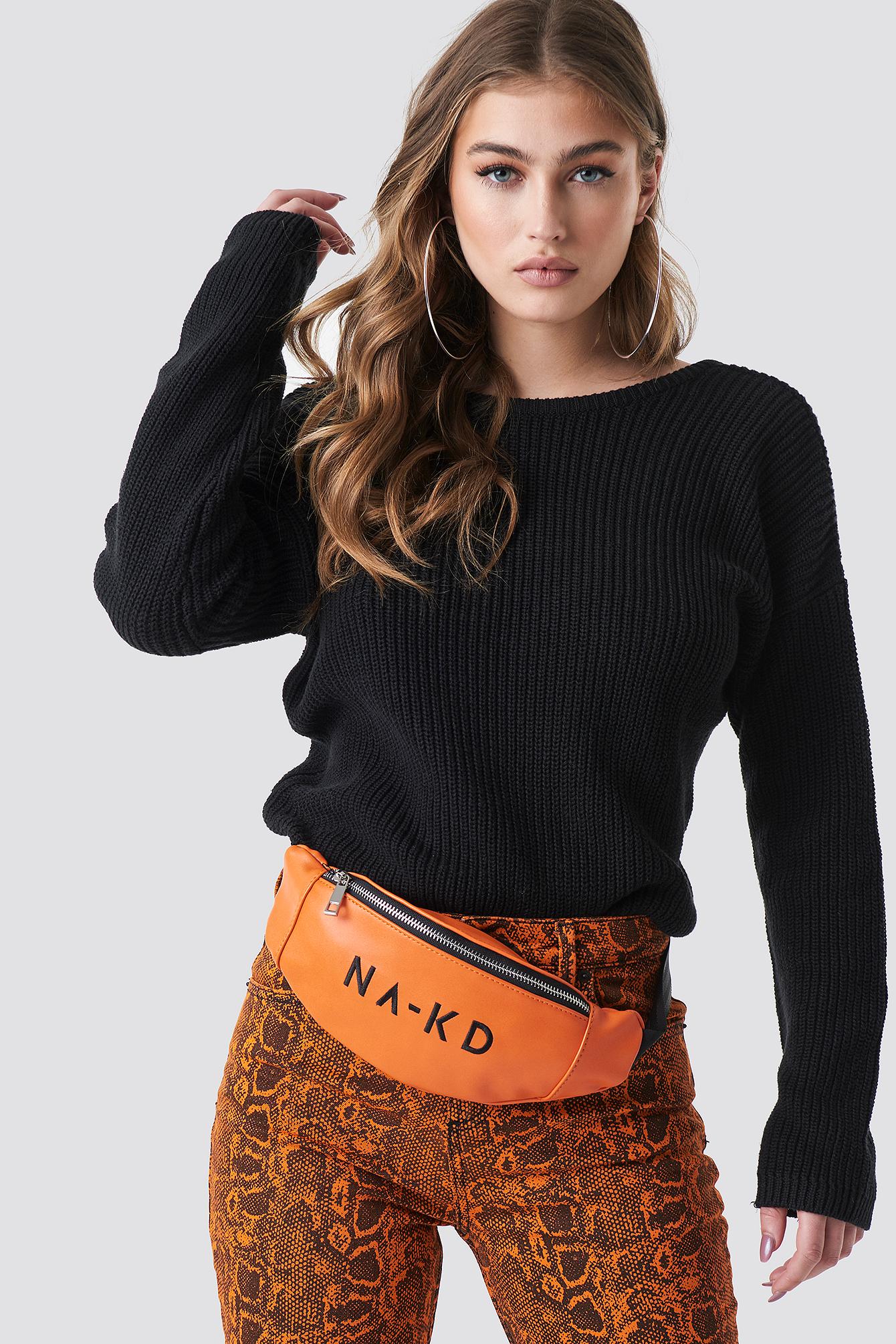 na-kd accessories -  NA-KD Basic Bum Bag - Orange