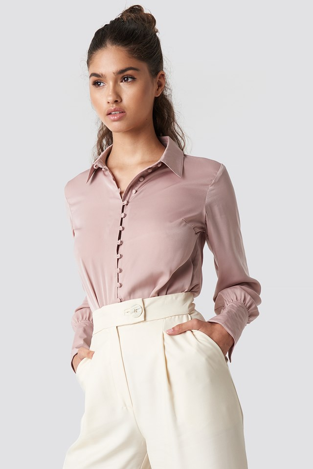 Button Detailed Blouse NA-KD Trend