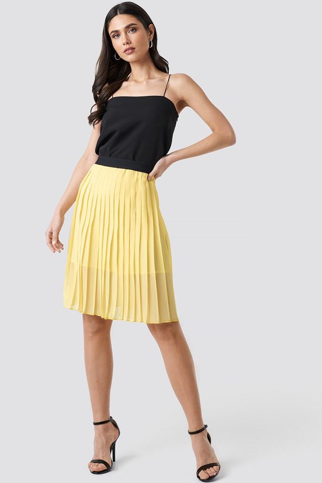 Dorette Skirt Pastel Yellow