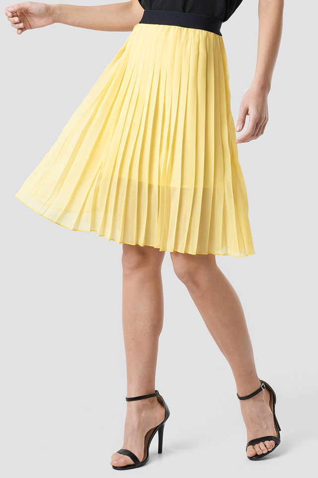 Dorette Skirt Pastel Yellow