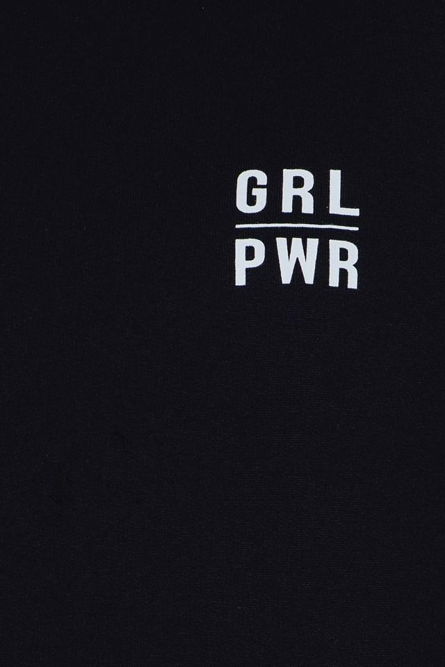 GRL PWR Printed Cropped Sweater Black
