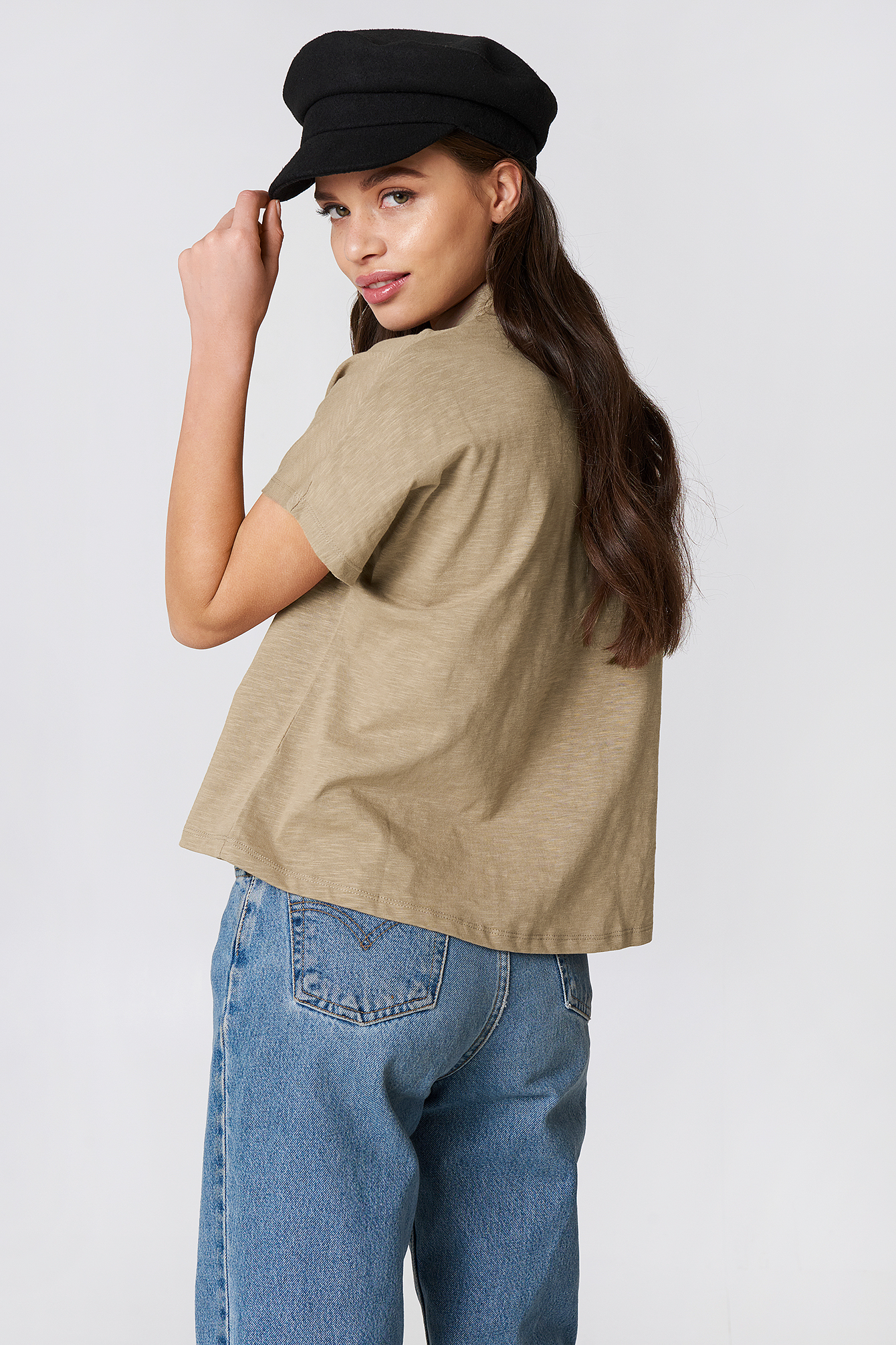 High Neck Cap Sleeve Top NA-KD.COM