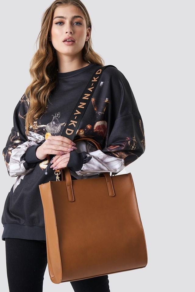 NA-KD Tote Bag Cognac