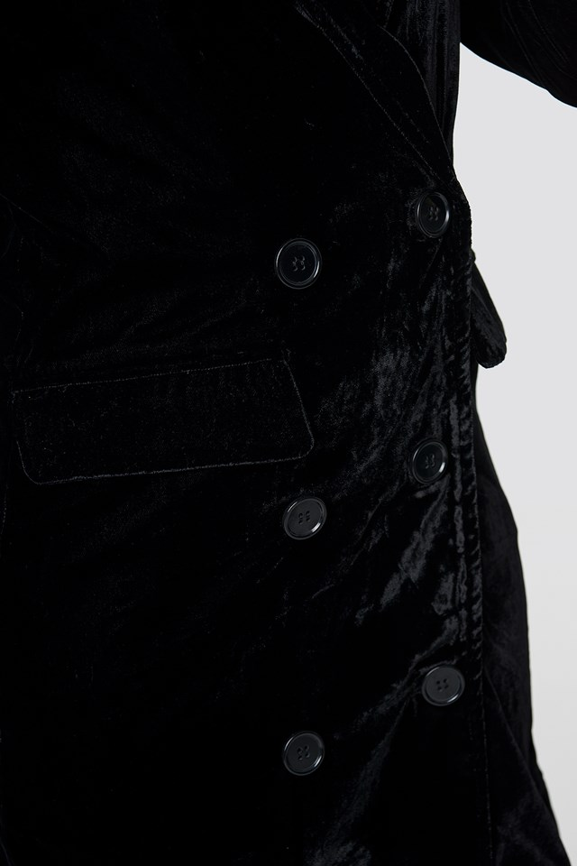 Velvet Blazer Dress NA-KD.COM