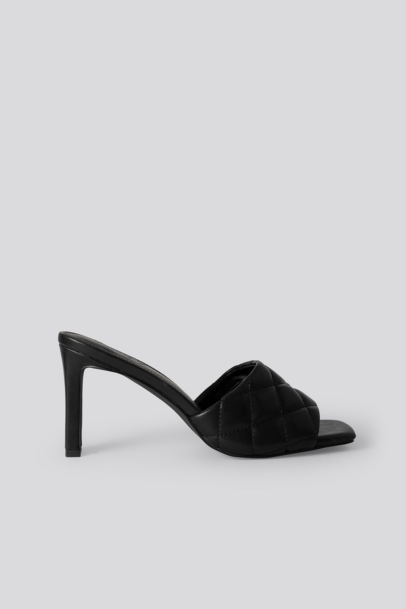 na-kd shoes -  Quilted Heeled Mules - Black