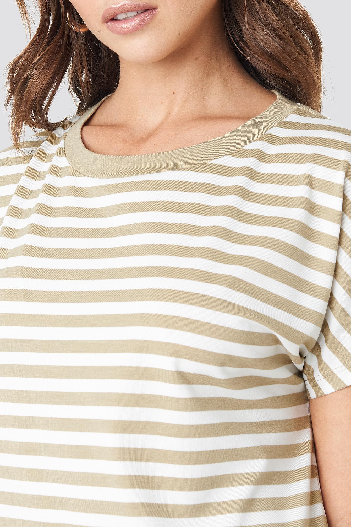 Striped Oversized T-shirt Dress NA-KD.COM
