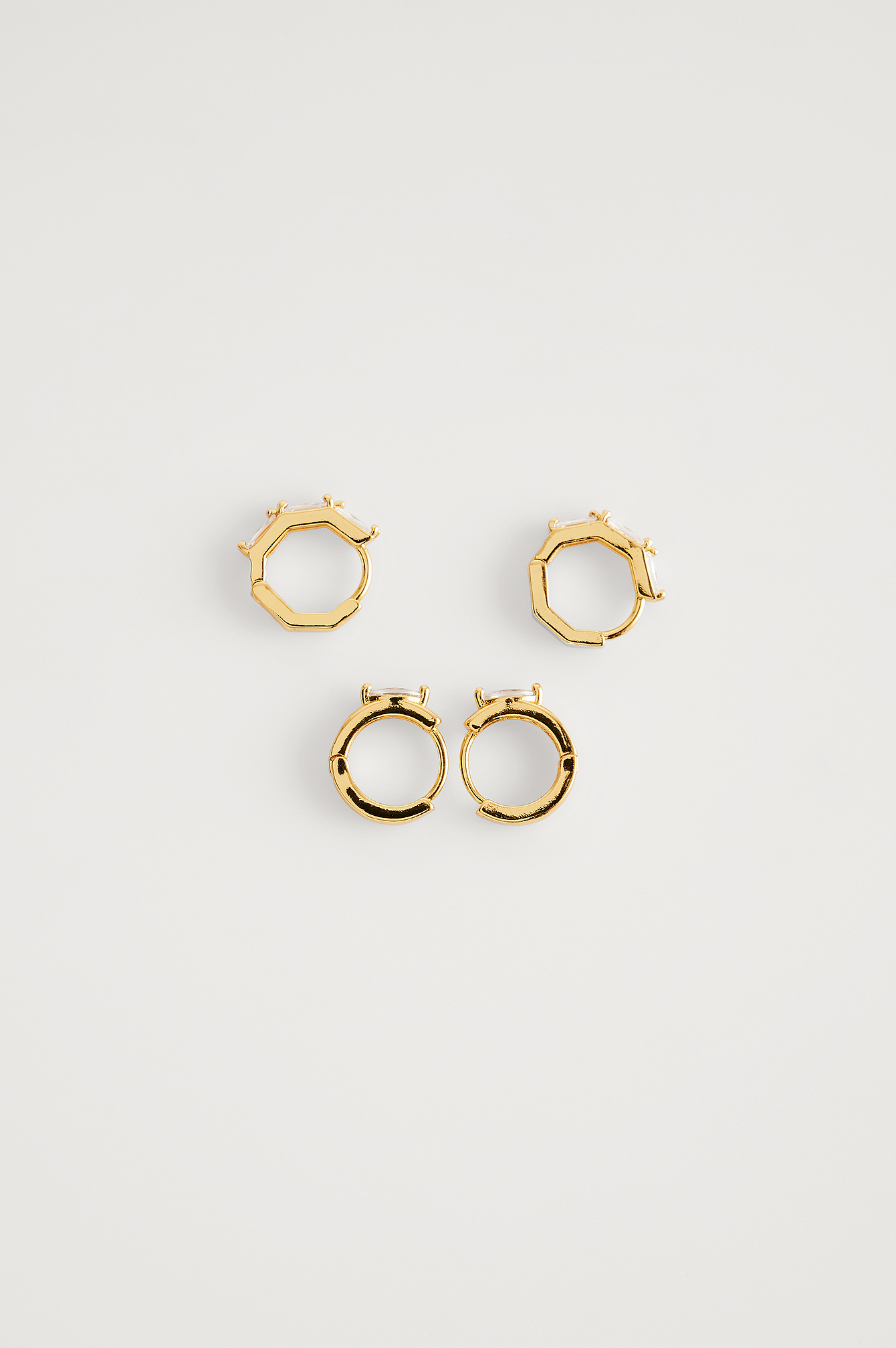 Gold 18K Gold Plated Sparkling Mini Hoops