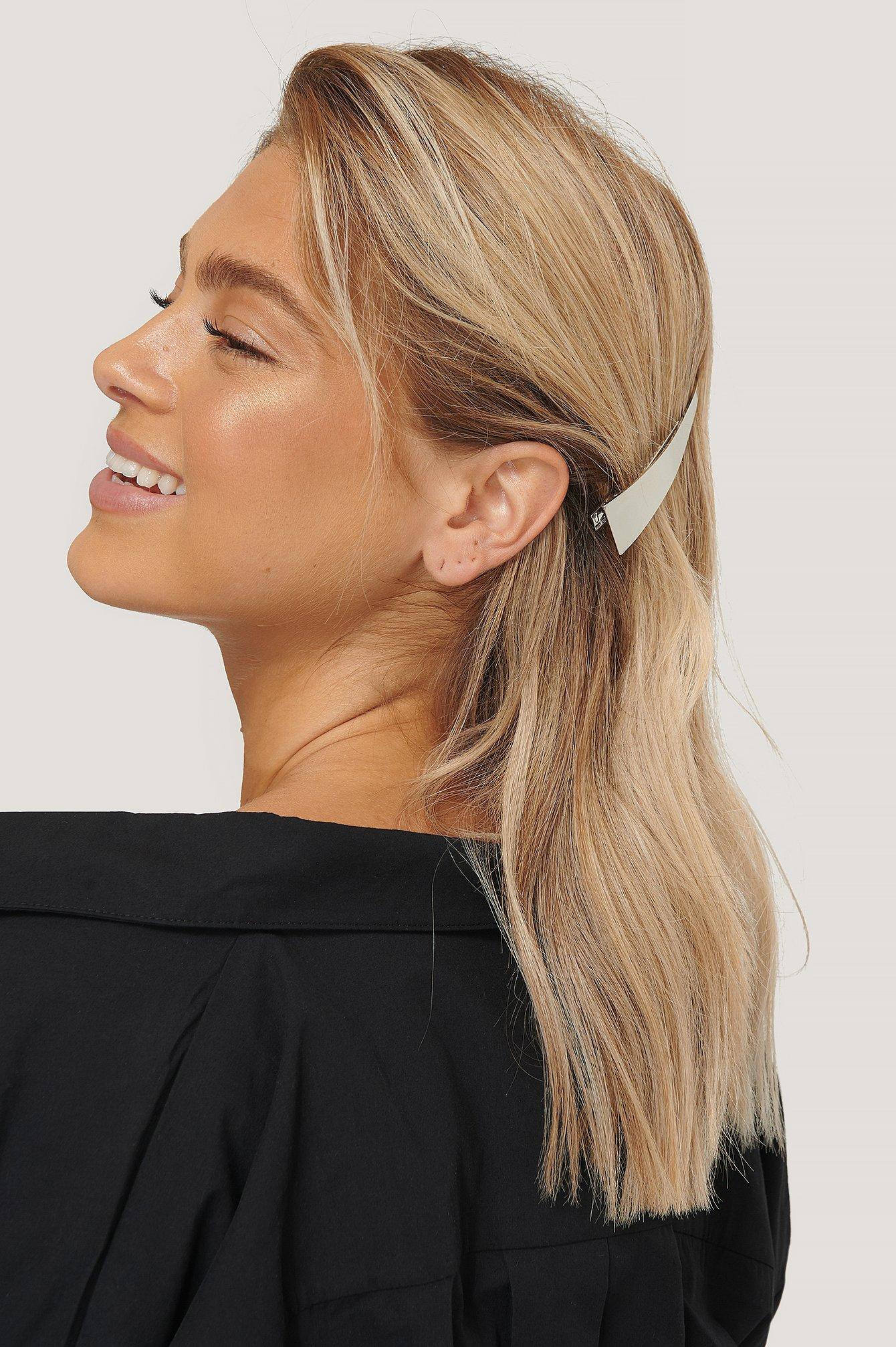na-kd accessories -  2Er-Pack Große Haarspangen - Silver