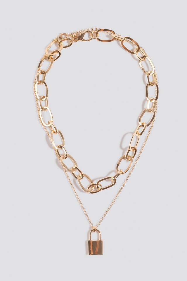 2-pack Chain Necklace Gold