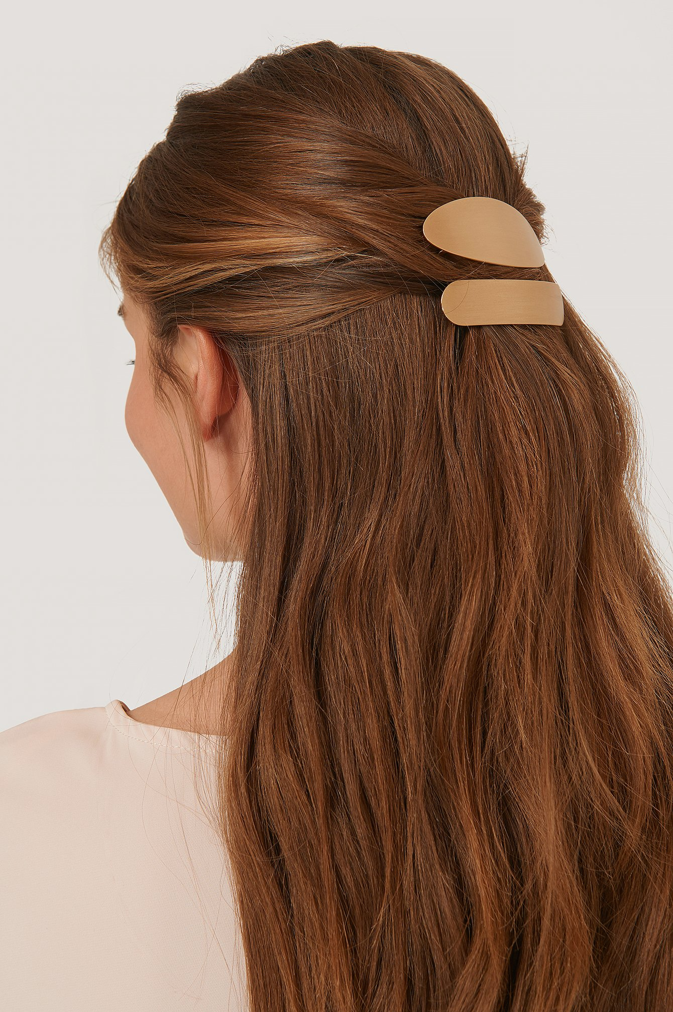 na-kd accessories -  2Er-Pack Chunky-Haarspangen - Gold