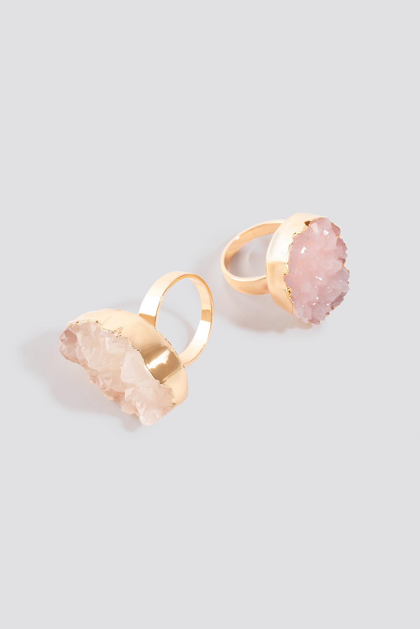 2-Pack Crystal Look Rings NA-KD.COM