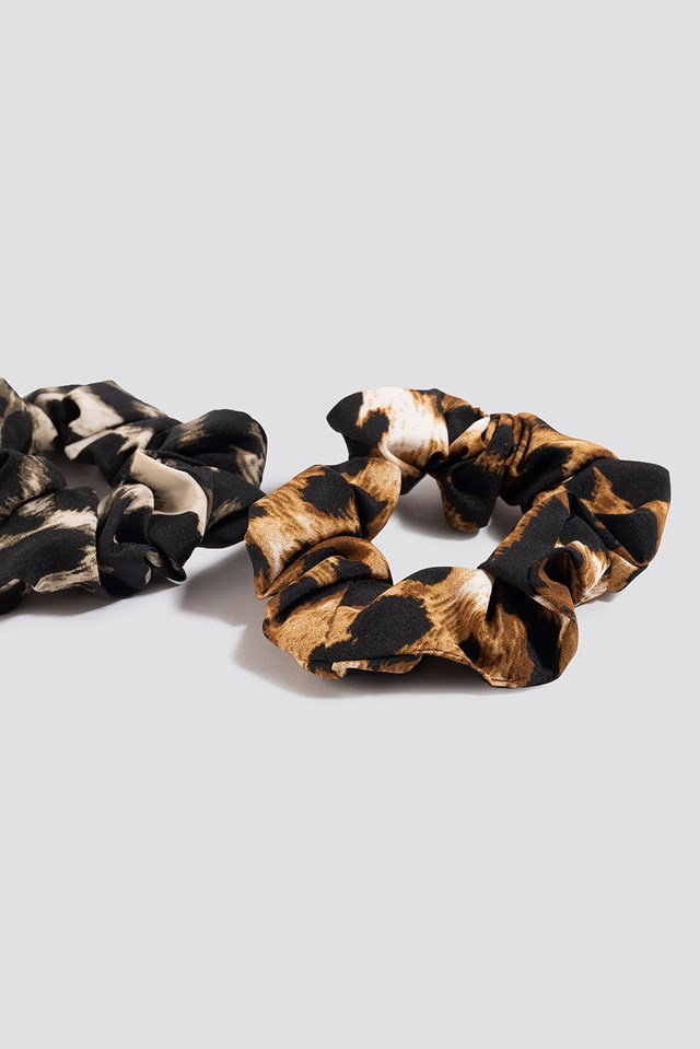 2-pack Leopard Scrunchies Mixed
