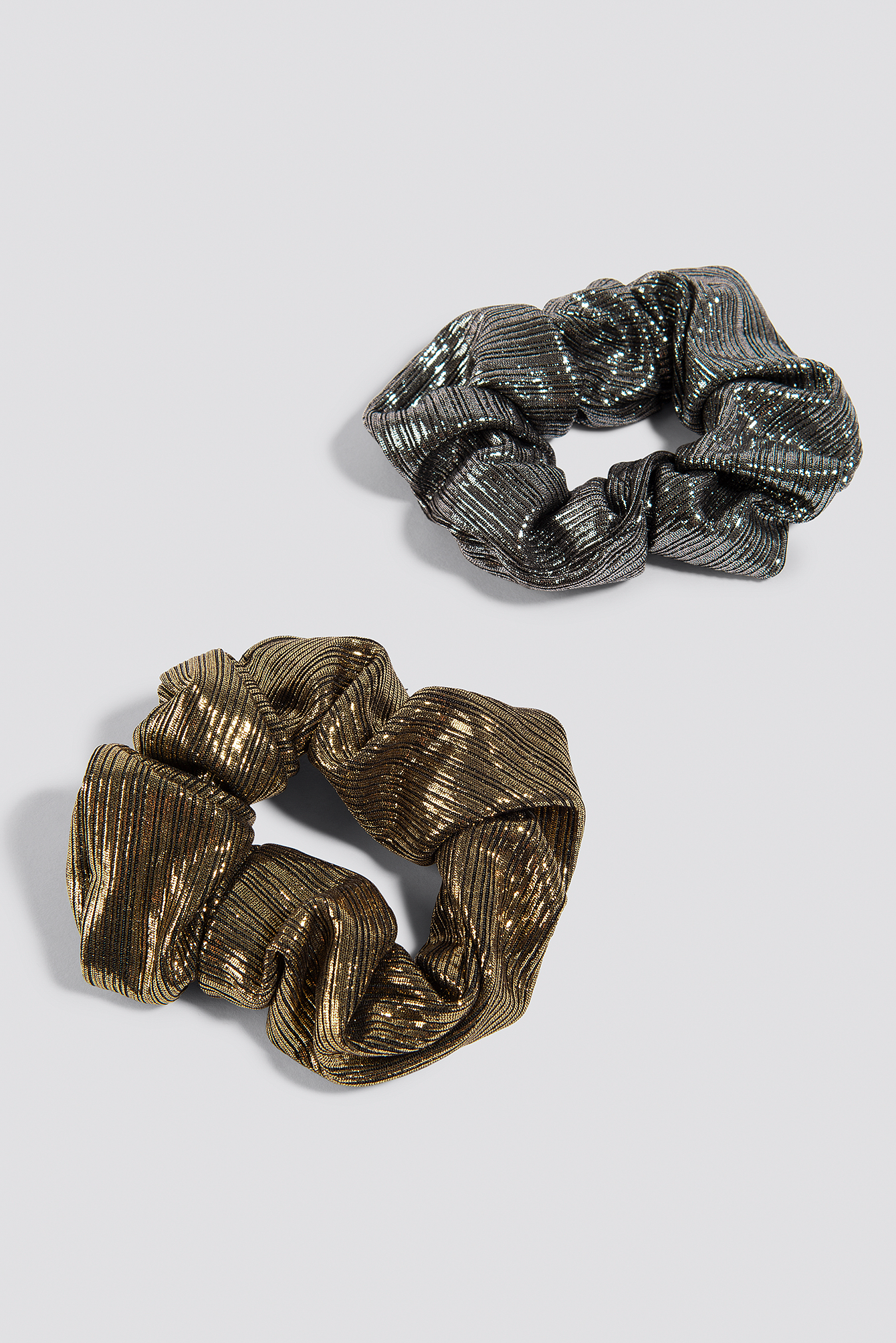 2-Pack Metallic Scrunchies NA-KD.COM