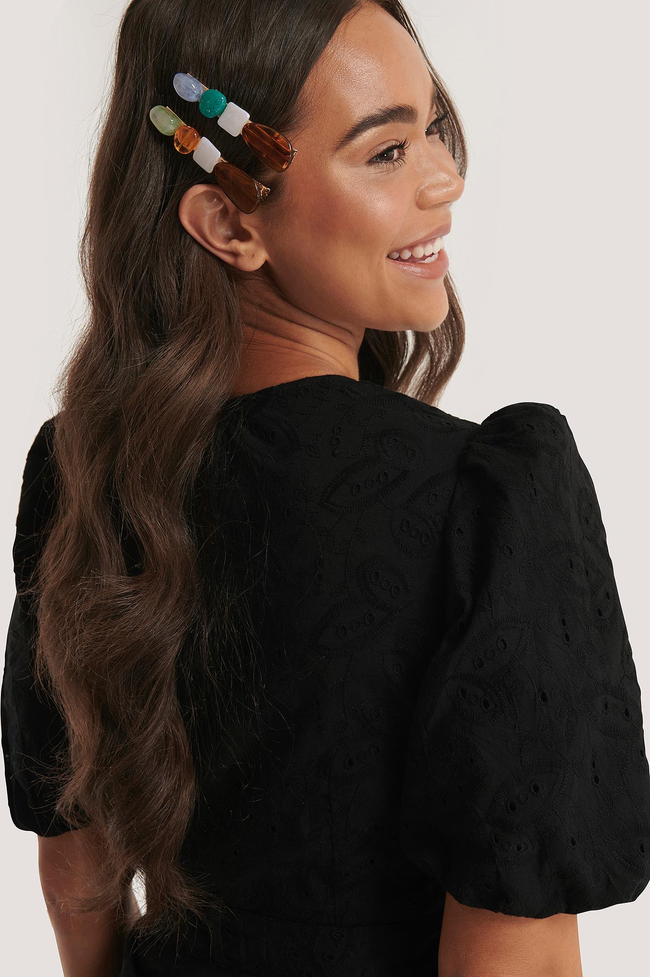 na-kd accessories -  Haarspangen-Set Ozean - Multicolor