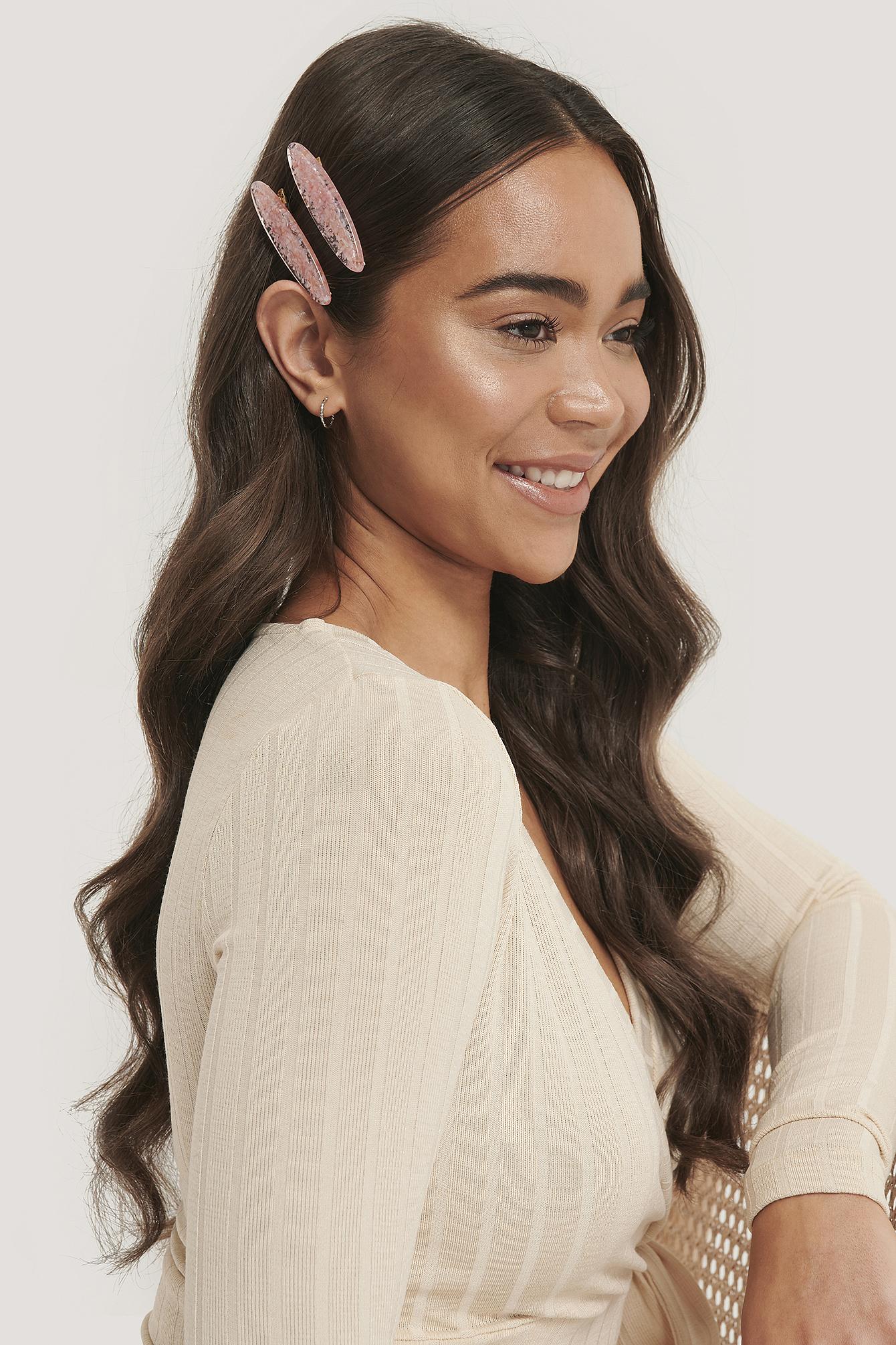 na-kd accessories -  Haarspangen-Set Ozean - Pink