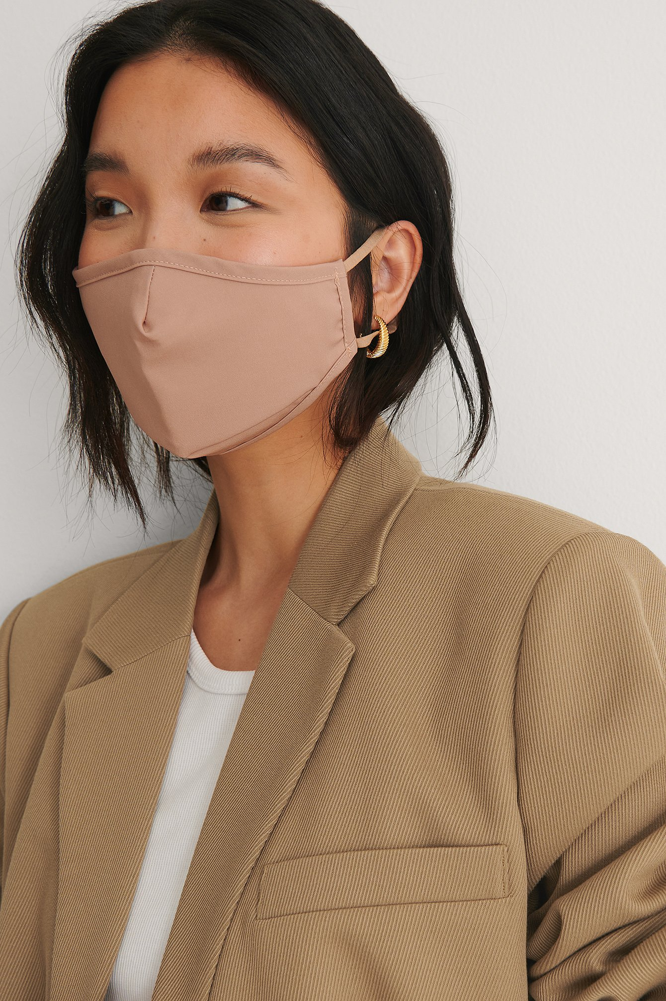 Light Brown 2-Pack Solid Fitted Masks