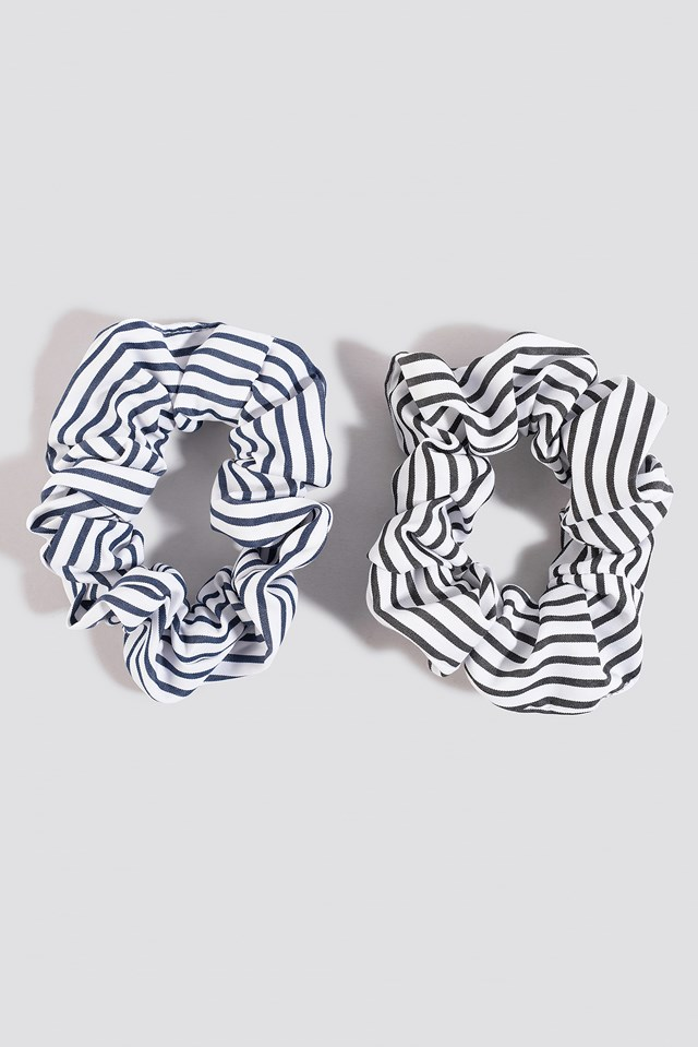 2-Pack Striped Scrunchies NA-KD.COM