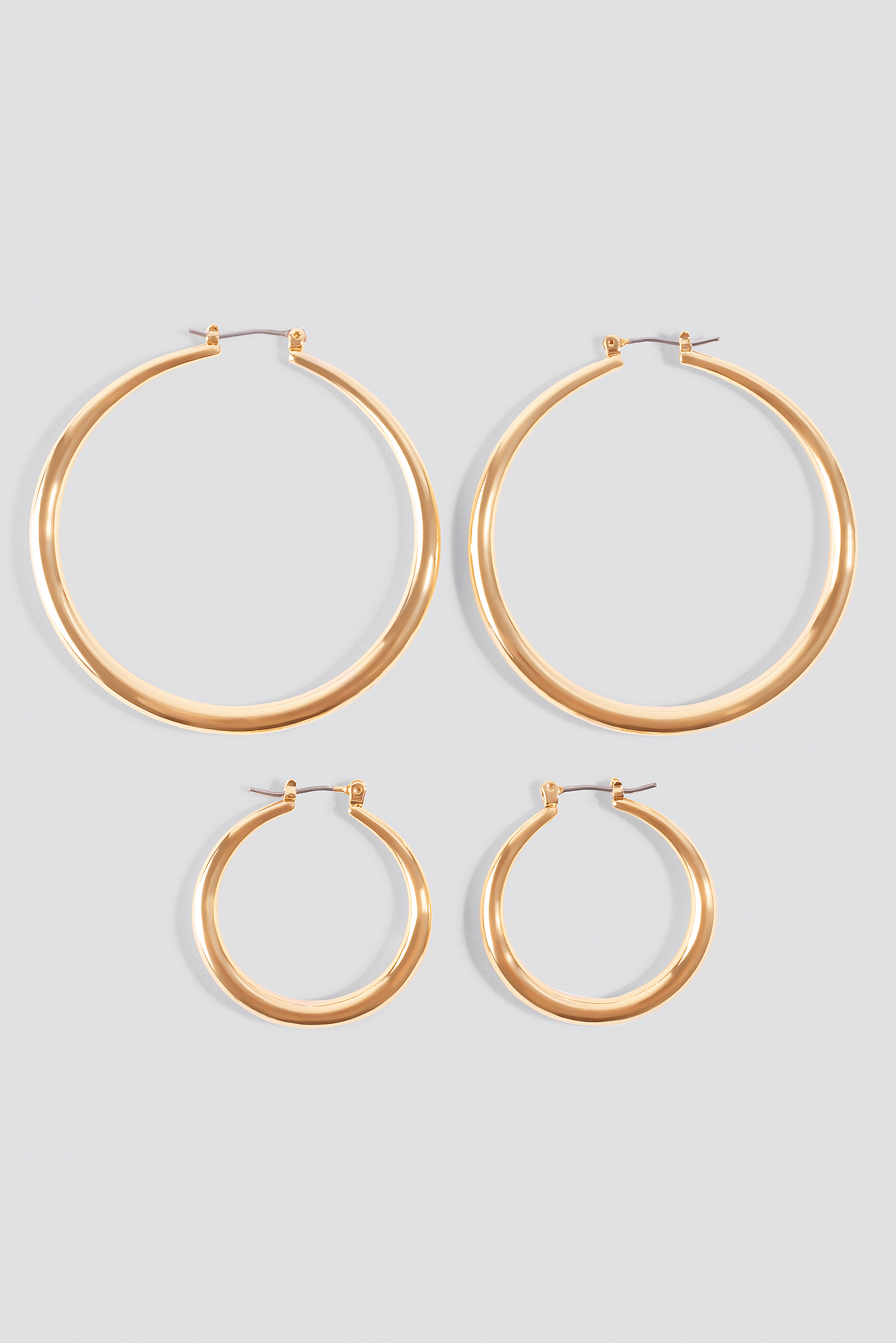 2-pack Uneven Hoop Earrings NA-KD.COM