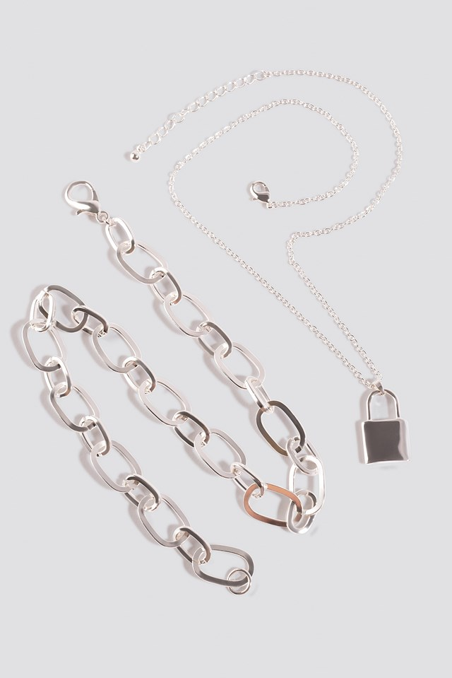 2-pack Chain Necklace Silver