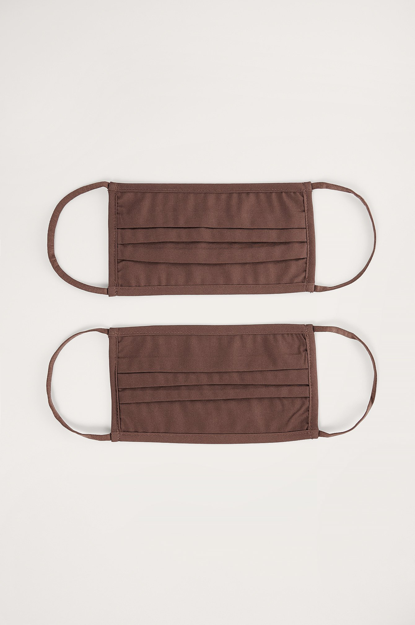 NA-KD Accessories 2-Pack Solid Flat Masks - Brown