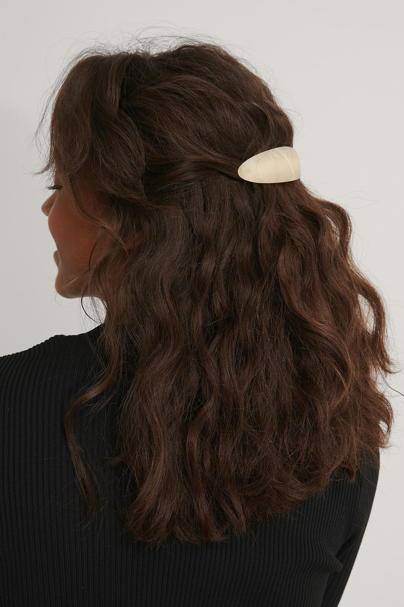 na-kd accessories -  Haarspange Harz - Brown,White