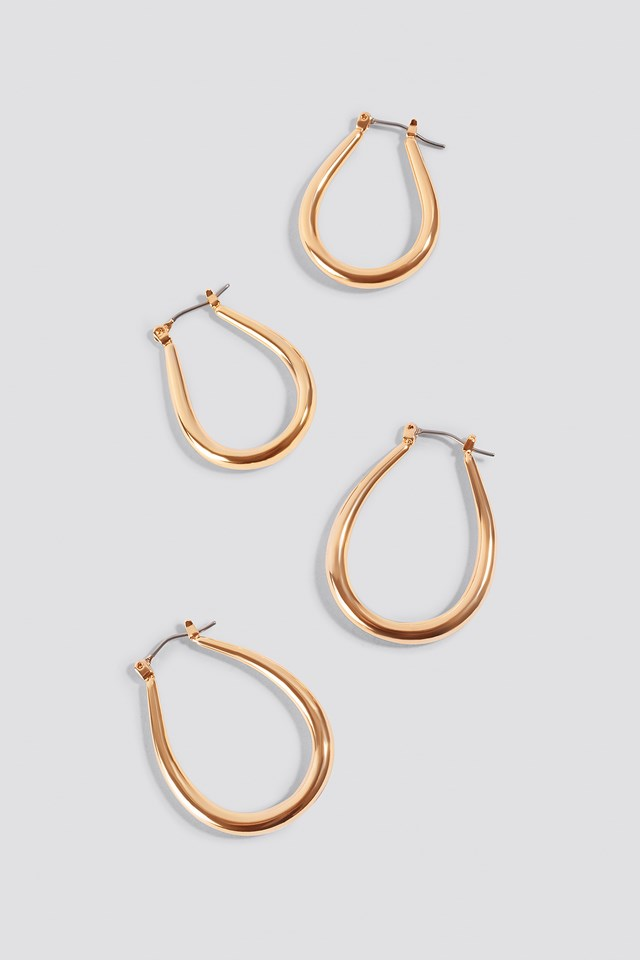 2-pack Oval Hoops NA-KD Accessories
