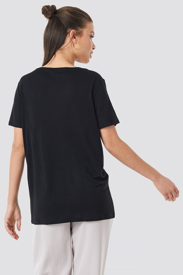 2-Pack V-Neck Tee Black/White